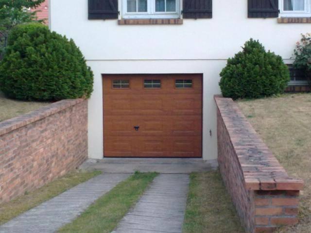 Pose d 39 une porte de garage novoferm iso45 sur la r gion d for Notice de pose porte de garage sectionnelle novoferm