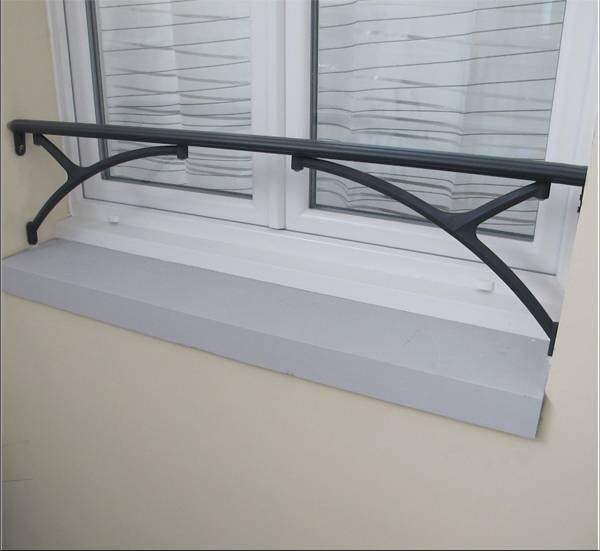 Barre d 39 appui aluminium pour fen tre vente pose for Coffrage pour appui de fenetre